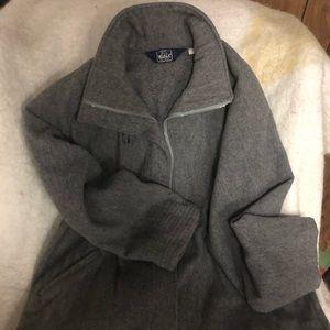 Jackets & Blazers - Grey wool to your knee jacket